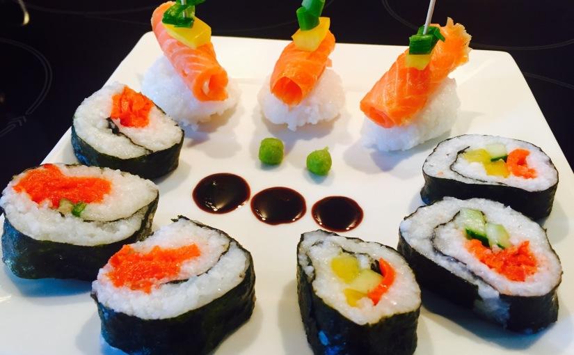 Sushi meets Ofen-Karotte